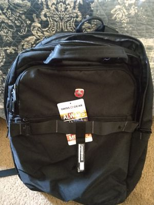 Swiss gear back pack with phone or tablet charger built in for Sale in Costa Mesa, CA