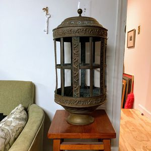 Vintage Brass Cage Street Lamp Light Fixture for Sale in Wheaton, MD