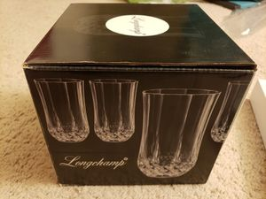 Crystal Glass set of 4 glasses Fancy for Sale in Adelphi, MD