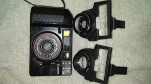 Canon Sure Shot 35mm point and shoot camera with 2 aux. FOCAL LENS ADAPTATIONS for Sale in Garland, TX