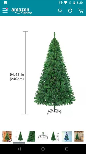 7.5 ft Artificial Christmas tree. 1250 branches with metal stand for Sale in Germantown, MD