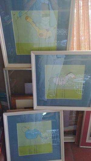 Children's room art, framed for Sale in Tampa, FL