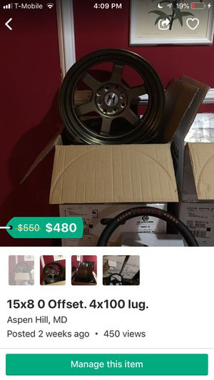 4x100 rims for Sale in Silver Spring, MD
