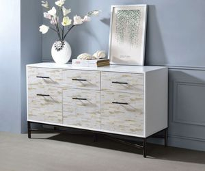Free delivery - New Modern White wood Uma dresser console table for Sale in Anaheim, CA