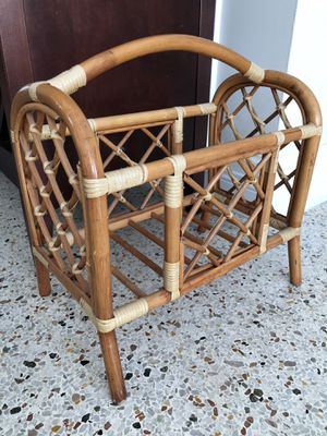 Bamboo magazine rack for Sale in LAKE CLARKE, FL