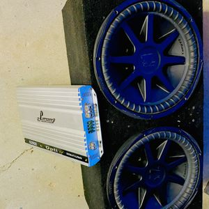 ($600) no less, no menos)15 Inch KICKER CVX subs / Opti Drive 1400 Watt Class D Monoblock Amp for Sale in Sanger, CA