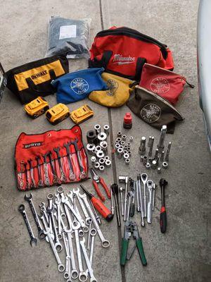 Mixed hand tools. Proto , Craftsmen, Husky dewalt batteries...etc for Sale in San Leandro, CA