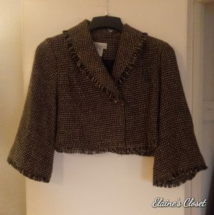 Spiegel Brown Fringed Cropped Jacket Size 16 for Sale in Kansas City, MO