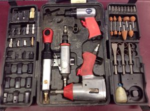Air tool set: impact wrench, ratchet, die grinder, chisel, sockets + for Sale in Columbus, OH