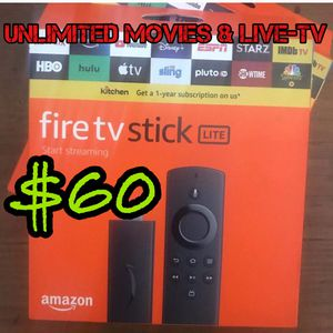 UNOCKED FREE TV 🔥🔥 Amazon fire stick 🔥🔥 iPhone iPad 🔥🔥 tablet laptop for Sale in Sharon Hill, PA
