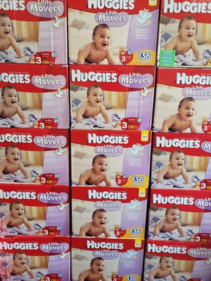 Nuevos Pañales Huggies Baby Diapers Little Movers size 3. 136 Pañales $35 Firm for Sale in Los Angeles, CA