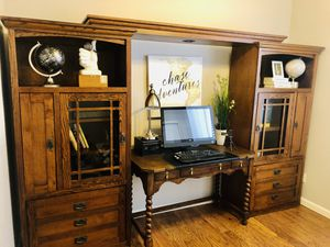 Office desk and cabinets/bookshelves for Sale in Glendale, AZ
