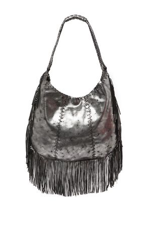 HOBO Gypsy Fringe Shoulder Bag (Smoke) for Sale in Littleton, CO