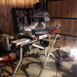 """Bosch 12"""" Miter Saw And Stand for Sale in Algona,  WA"""
