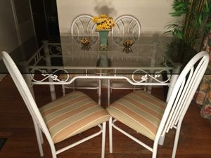 Glass top kitchen table and 4 chairs for Sale in North Olmsted, OH