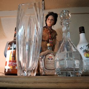 I Have A crystal Vase And A Crystal Liquor Bottle For Sale for Sale in Fort Worth, TX