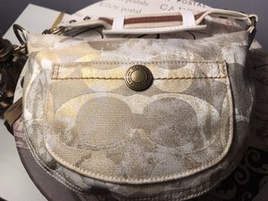 Coach Hobo Tan and White Bag for Sale in Etna, OH