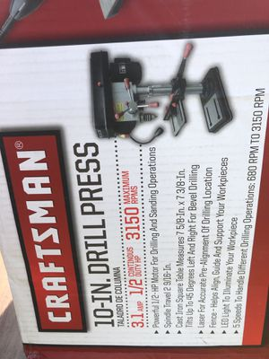 """Craftsman 10"""" drill press brand new for Sale in Watsontown, PA"""