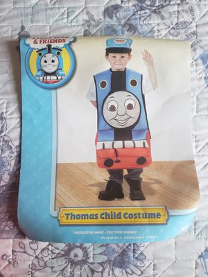 Tomas the train child costume size 5years-7years. In great condition just worn one time.From a smoke pet free home. for Sale in West Jordan, UT