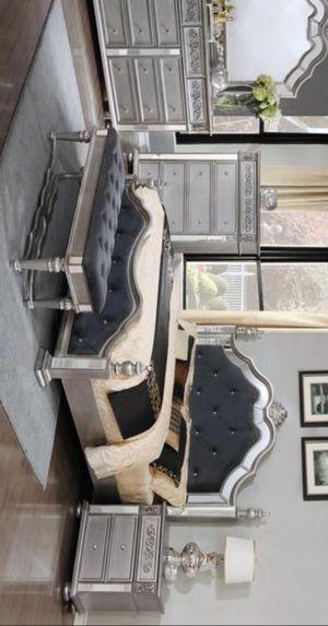 💚 Best Offer 💚 Opulent Silver Bedroom Set | B878 for Sale in Jessup, MD