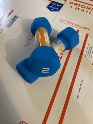 CAP Hex Neoprene 2 lb Pound Set of Two Dumbbell Weights - for Sale in Nashville, TN