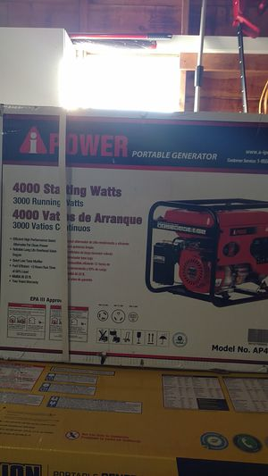 New! A-iPower 4,000 Watt Gasoline Powered Portable Generator with Manual Start (Includes Wheel Kit & Handle) for Sale in Joplin, MO