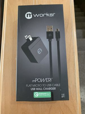 MWorks Flat Micro To USB Cable for Sale in Meridian, ID