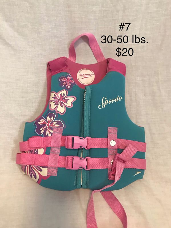 Life Jackets Size and Price Vary.