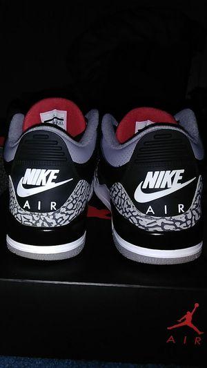 2018 Nike Air Jordan 3 Black Cement Size 10.5 for Sale in Columbus, OH
