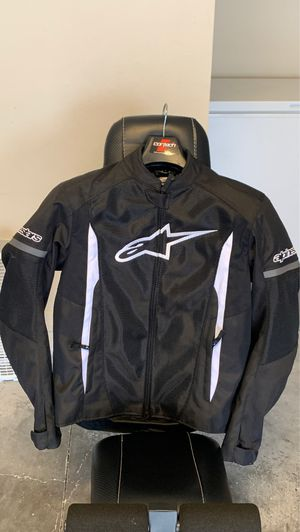 Alpinestars Men's T-Faster Air Black and White Textile Jacket for Sale in Kissimmee, FL