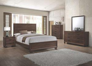 New wood 4 pieces queen bedroom set ⭐️FINANCING AVAILABLE for Sale in Boca Raton, FL