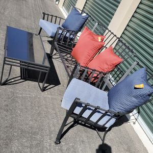 Large 4 piece high end wrought iron patio set furniture made by meadowcraft 🔥🔥🔥 FREE DELIVERY WITHIN 5 MILES 👍 for Sale in Las Vegas, NV