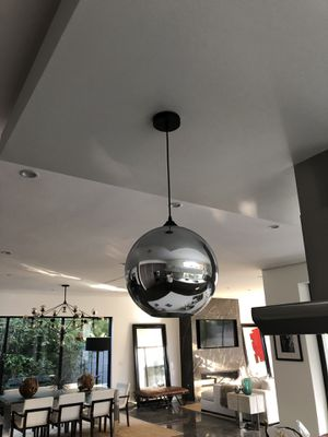 Chrome glass pendent lighting fixture chandelier new in box for Sale in West Hollywood, CA