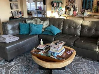 Free Delivery! Beautiful Gray Vinyl Sectional for Sale in Phoenix,  AZ