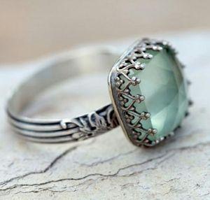 Vintage 925 Sterling Silver Natural Prehnite Ring for Sale in Wichita, KS