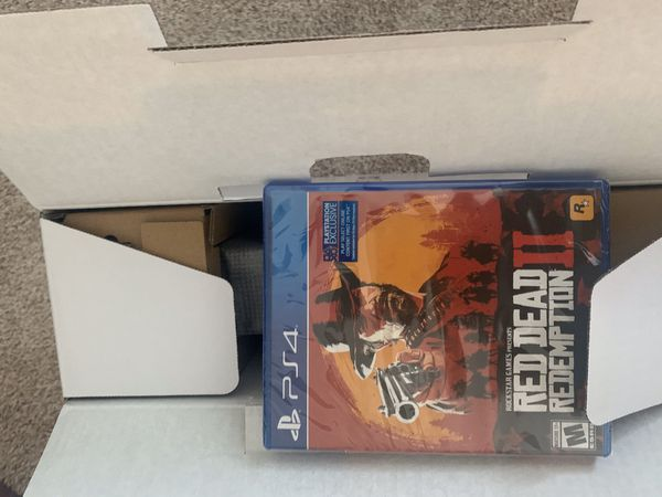 PS4 Pro with Red dead redemption