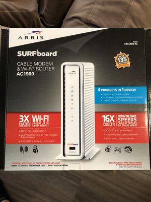 Surfboard Cable Modem & Wi-Fi Router (2-in-1) for Sale in Yakima, WA