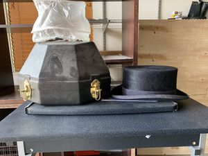 Dressage riding top hat, rain/dirt protection sleeve, and hard carry case for Sale in Grand Junction, CO