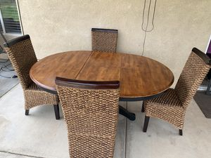 Table and chairs table has leaf EXT out see all photos for Sale in Bakersfield, CA