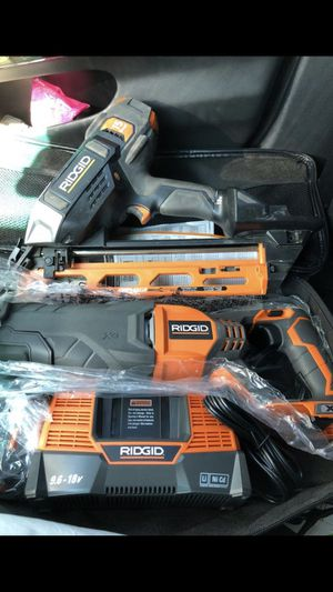 Ridgid 18v sawzall x4 kit with battery and charger-& ridgid 15gauge finish nailer for Sale in San Mateo, CA
