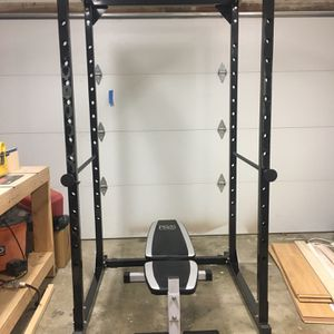 Squat Rack w/Pull Up Bar and Bench for Sale in Keizer, OR