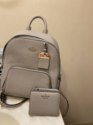 Kate Spade Backpack Purse & Wallet - Grey for Sale in Fenton, MO