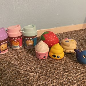 Set Of 3 Squishy scented Smooshy Mushy+ squishies toys end Lol doll for Sale in Chicago, IL