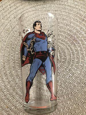 Supermán glass 1975 DC Comics Pepsi collector series for Sale in Rancho Cordova, CA