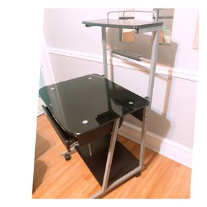 A Sturdy Tempered Glass/ Steel Computer Desk for Sale in Philadelphia, PA