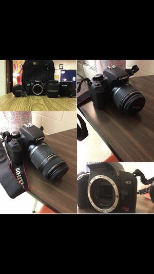Canon Rebel XS DSLR Camera with EF-S 18-55mm f/3.5-5.6 IS Lens (Black) for Sale in Herndon, VA