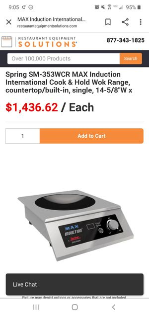 Stainless steel countertop induction cooker for Sale in Washington, DC
