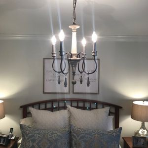 19'' H x 14'' W x 14'' D Gray/Bronze Armande Candle Style Classic / Traditional Chandelier NEW for Sale in Richardson, TX