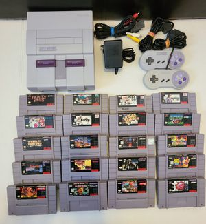 Super nintendo with 20 games!!! for Sale in Chicago, IL