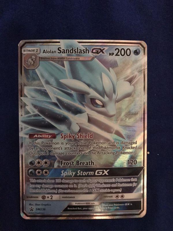 Alolan Sandslash GX Pokemon Card